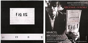Section Cinema: Marcel Broodthaers (exhibition announcement): BROODTHAERS, Marcel