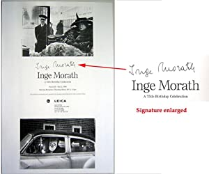 A 75th BIrthday Celebration (SIGNED by Inge Morath: a photo b&w poster)