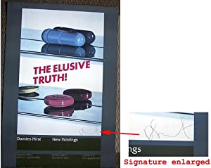 Two Pills. Elusive Truth ( SIGNED by Damien Hirst; Limited Ed. colored poster)