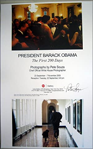 President Barack Obama: The First 200 Days (SIGNED poster by Pete Souza)
