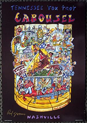 Carousel. Tennessee Fox Trot (SIGNED by Red Grooms: offset poster)