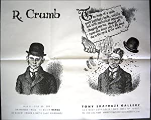 Drawings from the book Kafka (exhibition poster: CRUMB, Robert