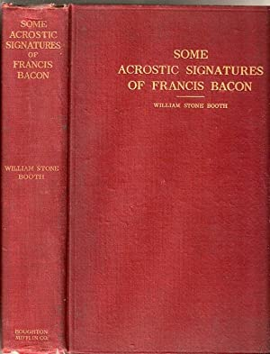 Some Acrostic Signatures of Francis Bacon