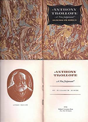 Anthony Trollope a New Judgement