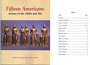 Fifteen Americans Artist of the 1930s and: Janet Marqusee