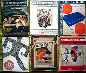 Gebrauchsgraphik (6 volumes: Dec. 1929, jan. 1930, Nov. 1930, Jan. 1932, Dec. 1933, Mar 1938)