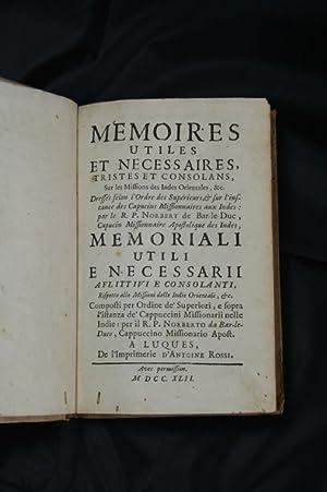 Memoires utiles et necessaires, tristes et consolans,: PARISOT, PIERRE CUREL