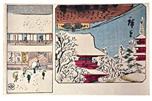 Two sets of twelve coloured pictorial postcards: UKIYO-E POST CARDS].