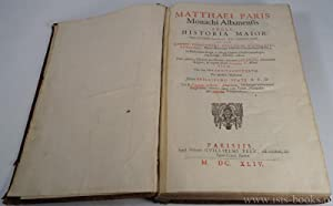 Matthaei Paris monachi Albanensis Angli, Historia Maior.: MATTHEW PARIS