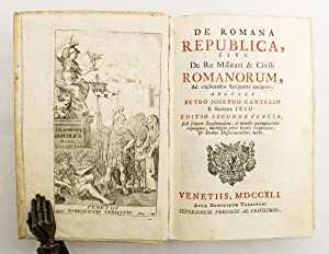 De Romana Republica, sive de re militari: CANTELIO, P.J.