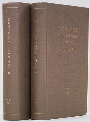 Miscellanea codicologica F. Masai. 2 volumes.: MASAI, F. ,