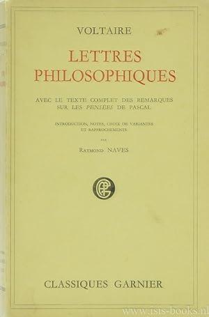 Lettres philosophiques ou lettres anglaises. Avec le: VOLTAIRE