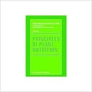Principles Of Plant Nutrition: Konrad Mengel And