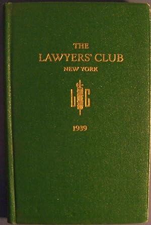 THE LAWYERS' CLUB NEW YORK 1939: LAWYERS' CLUB