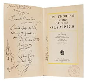 Jim Thorpe's History of the Olympics (Signed by author and athletes)