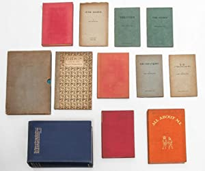 Small archive of 10 books inscribed for his wife and also signed by her