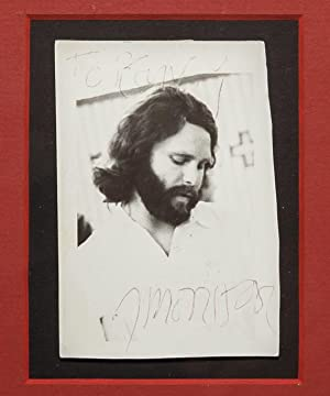 Original Signed Photograph of Jim Morrison