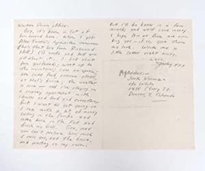 Autograph Letter Signed (ALS) to his Mother, Gabrielle Kerouac - On the Road: Kerouac, Jack