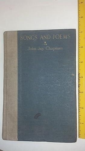 Songs and Poems: Chapman, John Jay