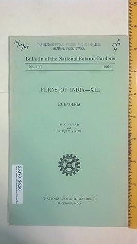 Ferns of India--XIII (Bulletin of the National: Nayar, B. K.;