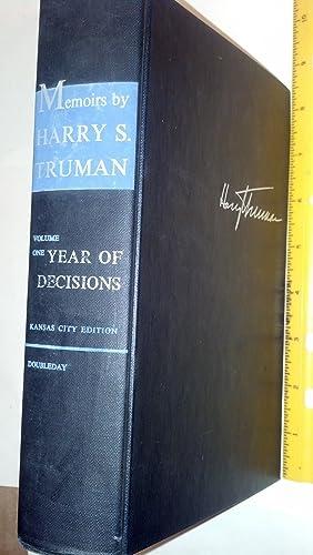 Memoirs by Harry S. Truman Volume One: Truman, Harry S