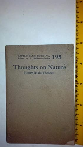 Thoughts on Nature - Little Blue Book: Thoreau, Henry David;