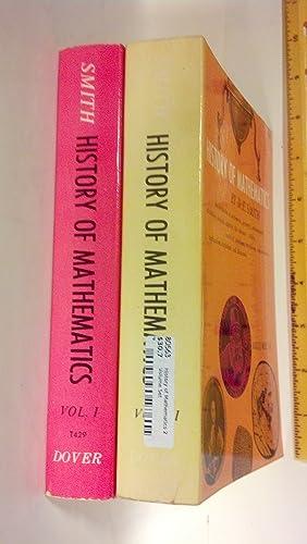 History of Mathematics 2 Volume Set: Smith, D. E.
