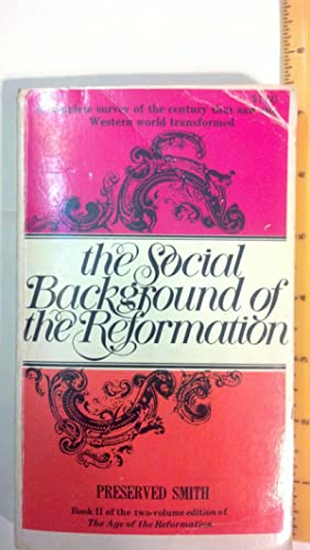 The Social Background Of The Reformation