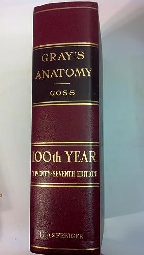 Gray's Anatomy: Anatomy of the Human Body: Gray, Henry; Goss,