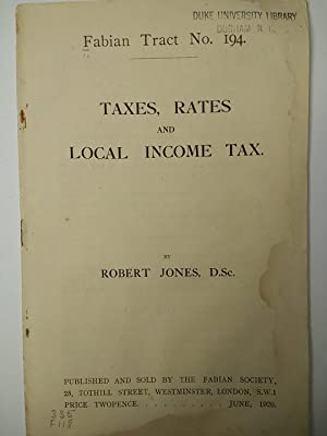 Taxes, Rates and Local Income Tax