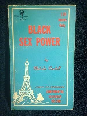 Black Sex Power Continental Classics Erotica Book CC-298: Randall, Malcolm