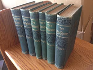 James Fenimore Cooper 'Cooper's Novels' Six Volume Set: The Pioneers, The Water Witch, Wing and W...