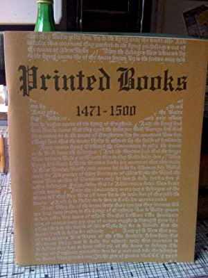 Printed Books, 1471-1500; an Exhibition Commemorating the UNESCO: College, Wahlert Memorial Library...
