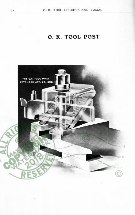 O K Tool Holder 1911 Catalog Lathe Shaper Planer Tools Drop Forging Boring Mills Collectibles Price Guides & Publications