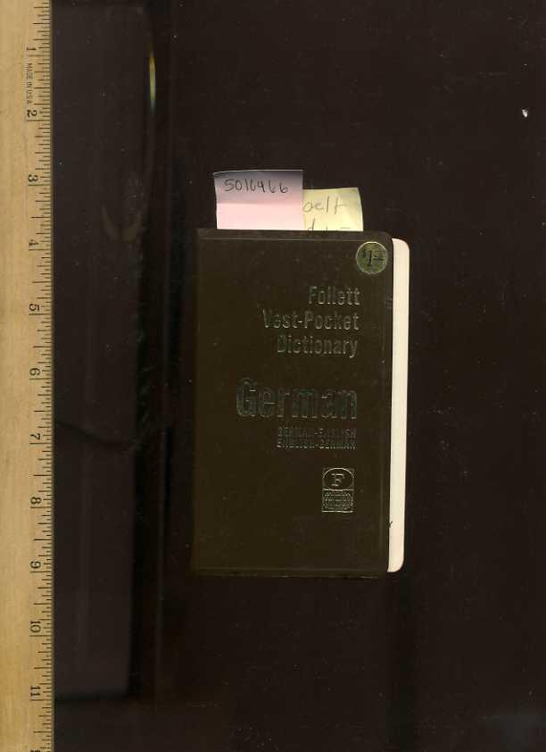 Follett Vest Pocket Dictionary German German English Word