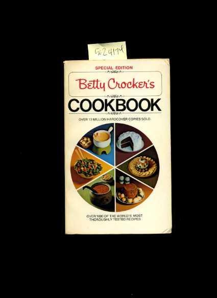 Betty Crocker Cookbook 1969