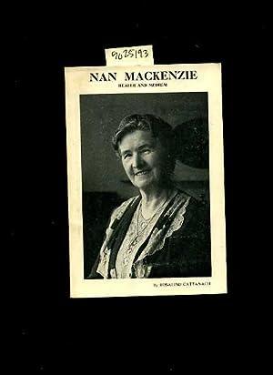 Nan Mackinzie : Healer and Medium [London Spiritual Mission, Psychic Operations, Biography, ...