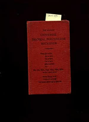 The Express Universial Decimal Percentage Reckoner [math, Numbers, and Figuring Percent, ...