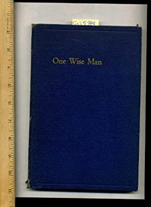 One wise Man : A Play in Four / 4 Acts [drama, Play, German Jewish Refugee, production, Woodworking...