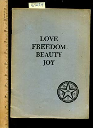 Love Freedom Beauty Joy [Eastern Philosophy, Religious thought]: H. Saraydarian / the Aquarian ...