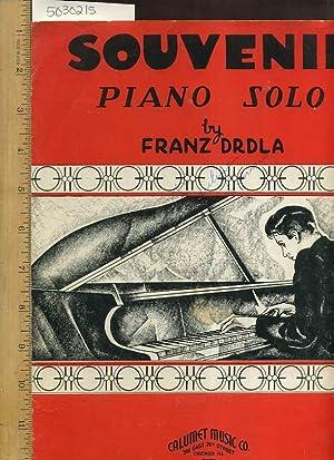 Souvenir Piano Solo [Sheet Music, Paino Music, Playing: Franz Drdla