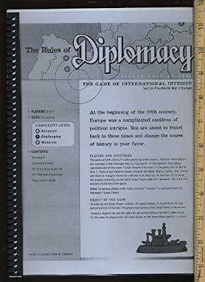 The Rules of Diplomacy : The Game of International Intrigue : Set in Pre World War I Europe : 4th ...