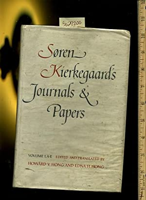 Soren Kierkegaard's Journals and Papers : Volume I / One / 1 A to E [theology and ...