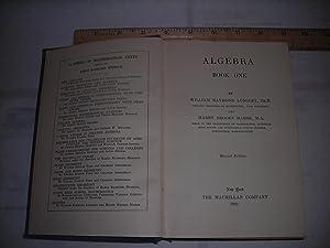 Algebra Book One / 1 1932 Revised Edition [Textbook, Educational, Math, Arithmatic, ...