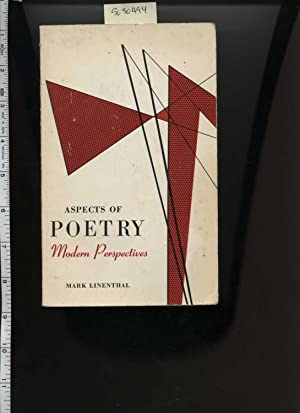 Aspects of Poetry : Modern Perspectives : 1963 Edition [anthology, Study, Understanding the Poet ...