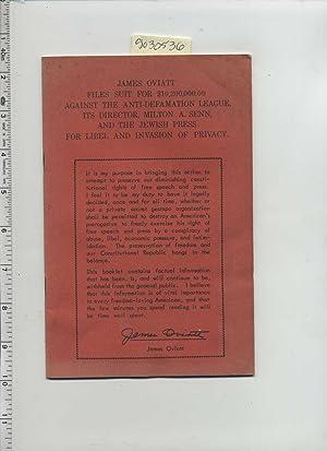 James Oviatt Files Suit for $10,200,000.00 Against the Anti Defamation League Its Director Milton A...