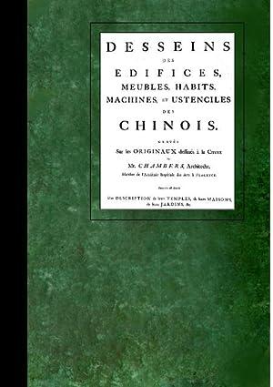 Desseins Des Edifices Meubles Habits MacHines et Ustenciles Des Chinois : Graves Sur Les Originaux ...