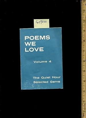 Poems We Love : Volume 4 : J. L. Tucker