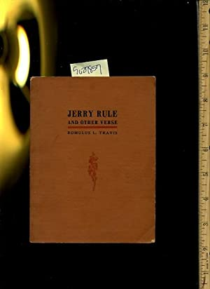 Jerry Rule and Other Verse : Some as Bad and Some are Worse [ Anecdotes , Poetry , Prose , Verse , ...