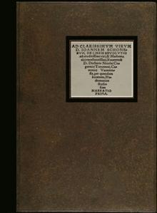 Ad Clarissimum Virum D. Joannem Schonerum ( Johannes Schoner ) De Libris Revolvtionu Eruditissimi ...